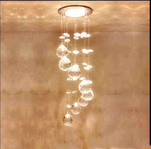 Мини современный подвесной светильник Кристалл LED Люстра Потолочный Подвесной Светильник блеск AC 110V2 20 В Светодиодные Кухонные светильники домашнего освещения lampadari