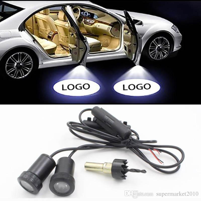 LED Car Door Welcome Light For BMW vw Honda Chevrolet Benz Kia Toyota Skoda Hyundai Lada door light Logo Laser Projector Ghost Shadow
