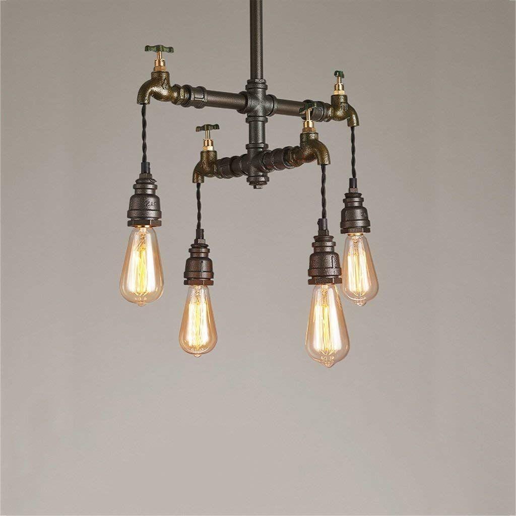 Lampadari Vintage a sospensione Lampadari a pipa ad acqua Edison Retrò Steampunk Illuminazione interna in metallo per bar Coffee Room