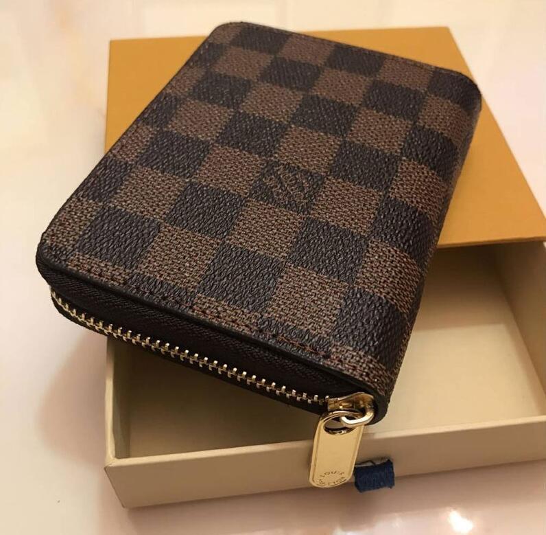 Paris Mode-Accessoires der Frauen Männer Brieftasche Kartenhalter klassischer Brown Blume Leder Geldbörse