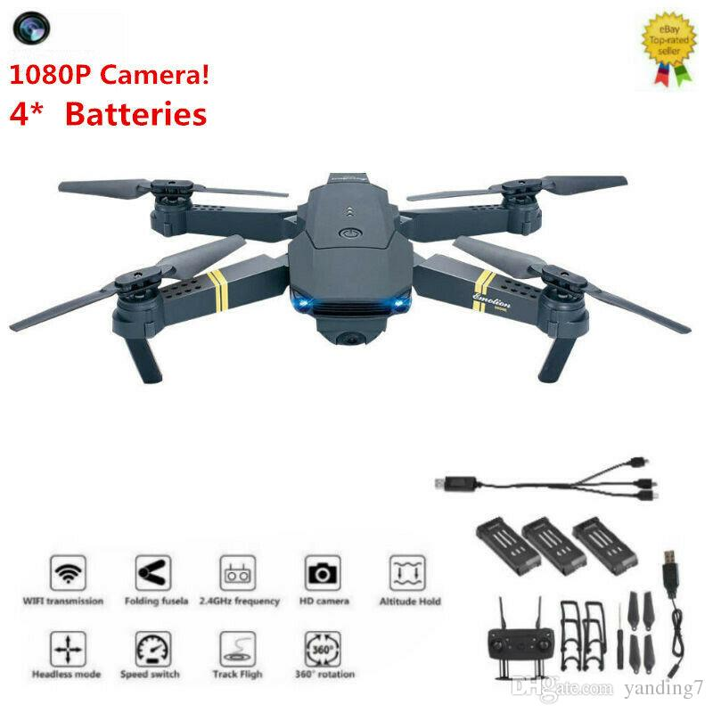 Drone x pro 1080P HD Camera Wifi APP FPV Foldable Wide-Angle 4* Batteries