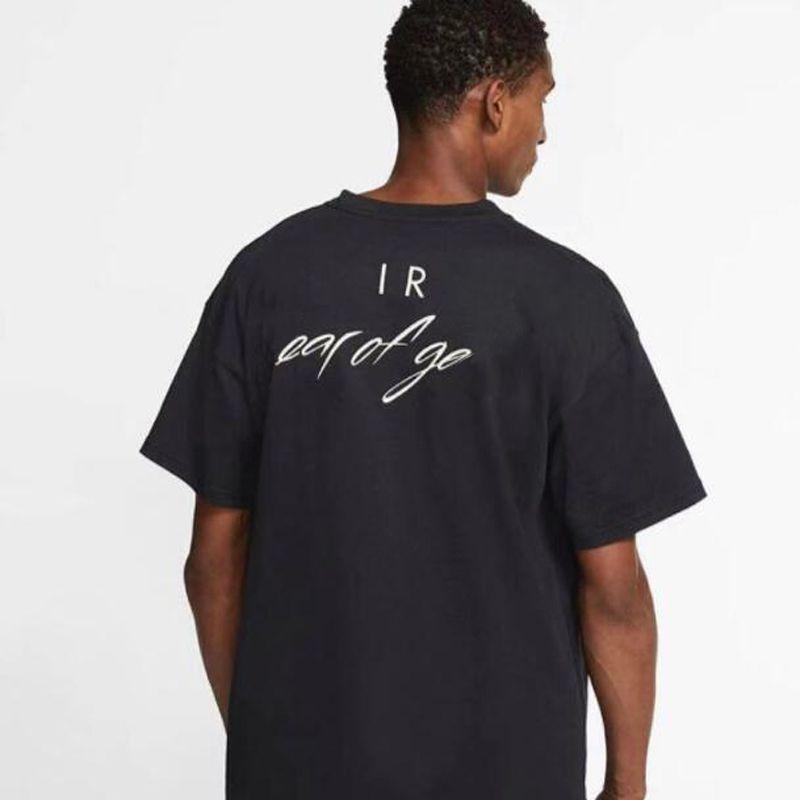 20SS FG logotipo impreso letra camiseta de los hombres ocasionales de las mujeres de la manga del cortocircuito del deporte de alta moda de la calle sólida simple camiseta respirable del verano tee HFYMTX833
