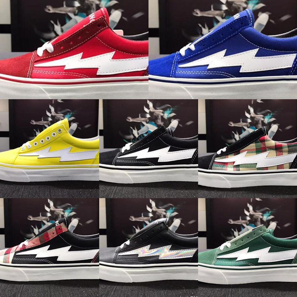 8 Farben Top Revenge X Sturm Old Skool Designer Cavnas Freizeitschuhe der Frauen Männer Low Cut Rot Blau Weiß Schwarz Freizeit Shoes11