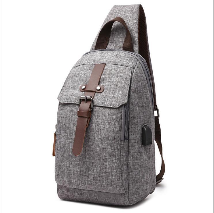 HBP Grey Rucksack Stil Reise Gepäcktasche Einzelne Gurt One Strap Bag Fix Color Spritzer Beweis Rucksack Für Mittelschule Studenten frei s