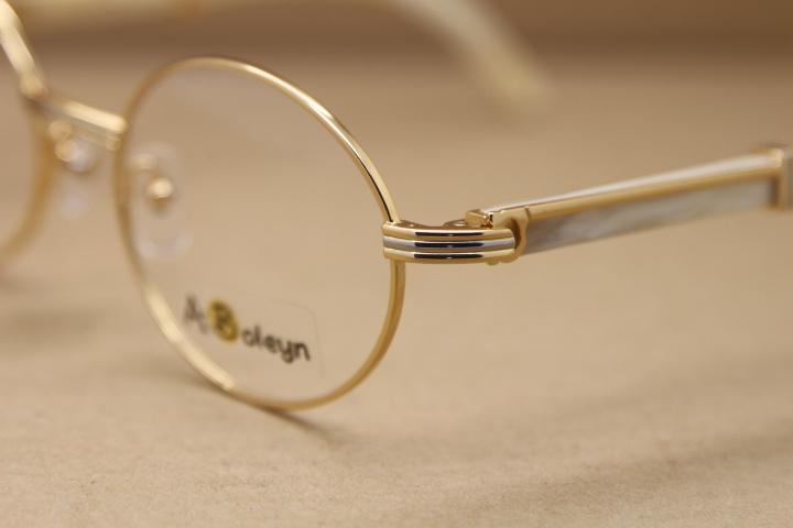 All'ingrosso-progettista caldo rotonde 7550178 White Buffalo Horn occhiali occhiali computer Formato di struttura: 55-22-135mm