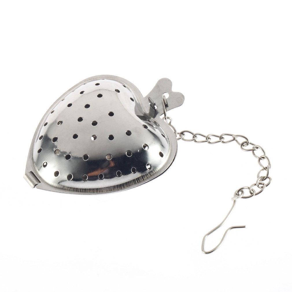 Nuovo arrivo 1Pc dell'acciaio inossidabile dell'argento del cuore del tè Spice setaccio sfera Infuser Filtro Herb Steeper Tea Infuser di alta qualità