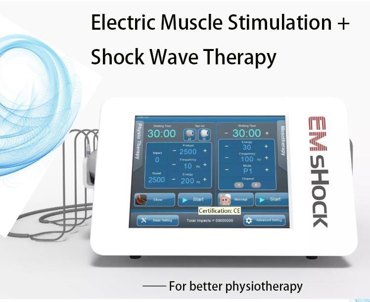 ED 치료 Hight Energy 저 강도 Smartwave ESWT Shockwave Protable Double Wave ESWT 충격파 물리 치료 장비