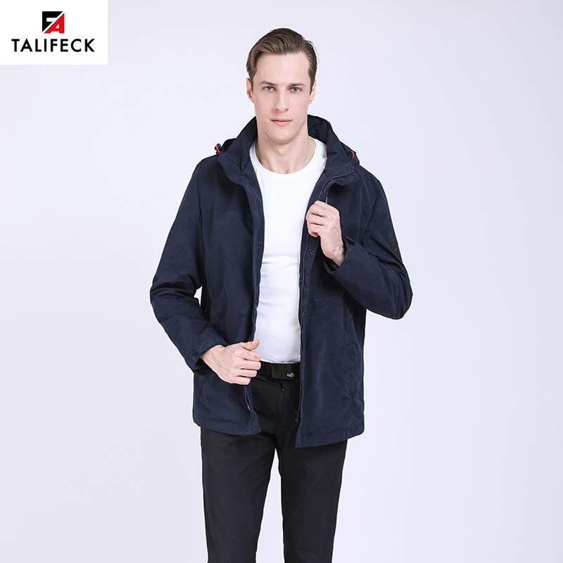 TALIFECK 2019 New Men's Jacket Spring men Thin Trench Coats Waterproof Windproof Spring Male Outerwear Mens Casual Camouflage