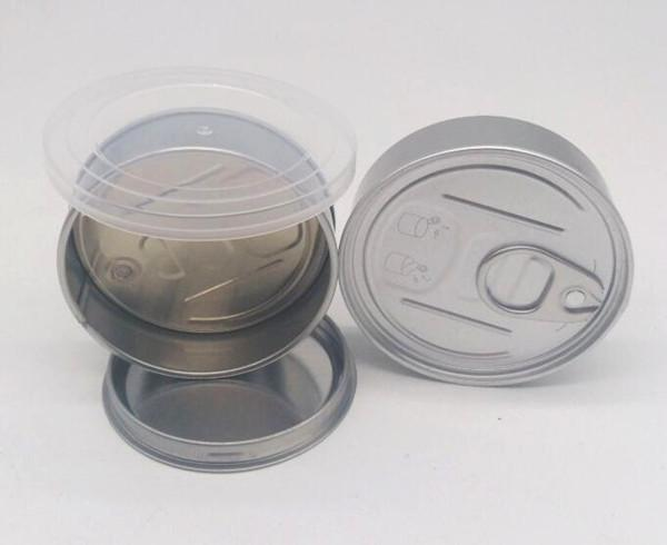 100ml food grade caviar sardine beef coffee dry herb easy open ring pull empty tuna tin cans press in bottom with lid smell proof