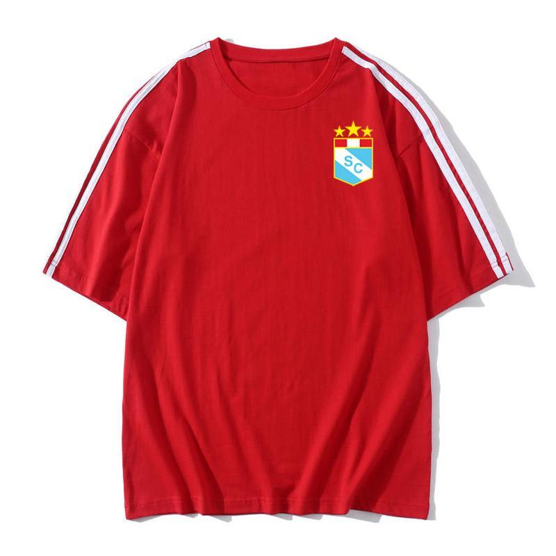 2020 Sporting Cristal Futebol T-shirt Futebol mangas curtas T-shirt frouxo homens do futebol do treinamento camisetas de futebol shirt Fãs Tops Tees