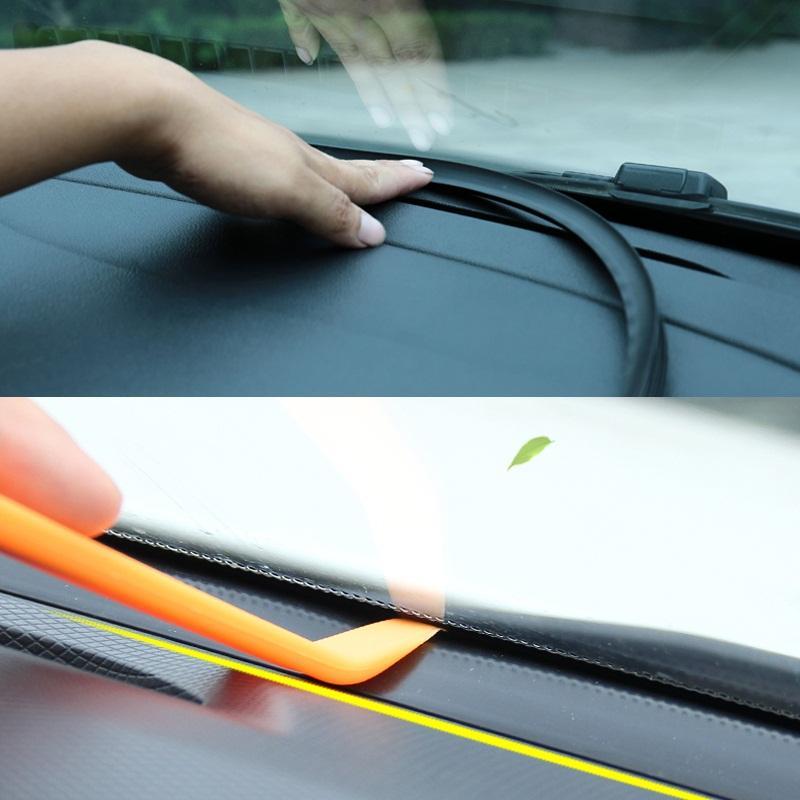 Araba Etiketler Pano Sızdırmazlık Ses Yalıtımı Kauçuk Şerit İçin Mazda Toyota BMW Audi KIA LADA Otomobil İç Aksesuarlar (Perakende) Şeritler