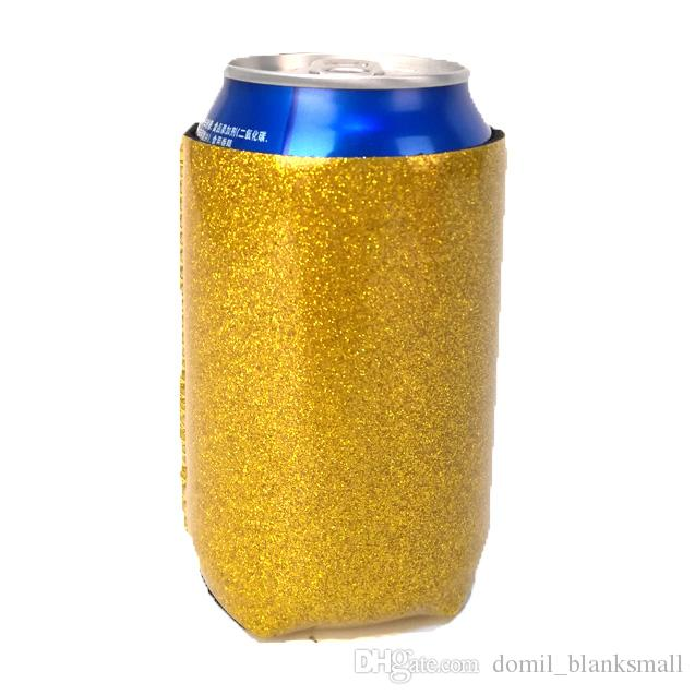 DOMIL Glitter pode refrigerador Michelob Ultra pode refrigerador Neoprene faísca Beer Can Titular DOM-108900