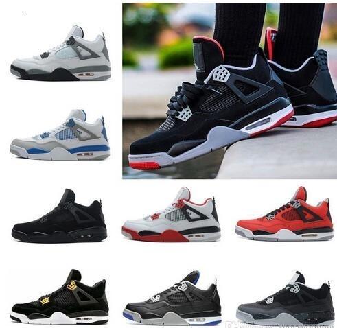 4 de graffiti sapatos 4s do tatuagem preto e branco de basquete Cactus Jack Raptors Mens Travis dinheiro Realeza Bred sneakers vermelho fogo