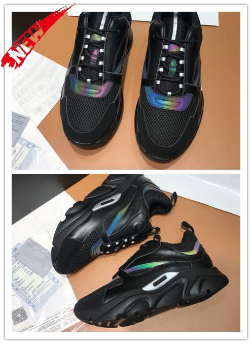 Tasarımcı B22 Sneaker Erkek bağbozumu Sneakers Lüks Kadınlar Düz Tuval Ve Dana derisi Eğitmenler Düşük En bağcıklı ayakkabı Patchwork Koşu Ayakkabı H68