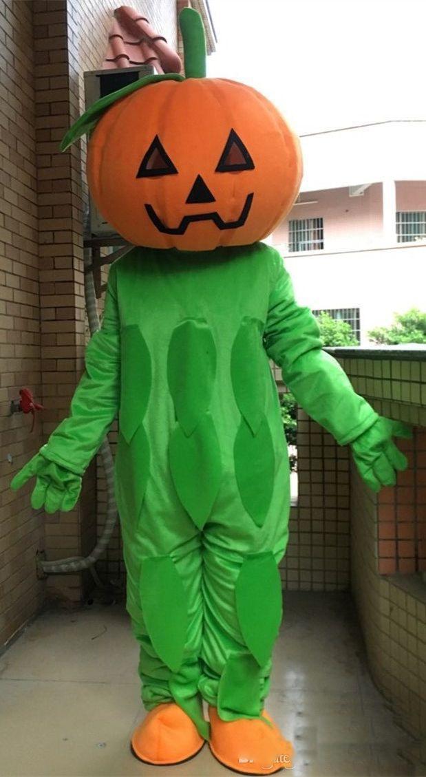 2020 Qualitäts-Halloween-Kürbis-Dekor-Maskottchen-Kostüm für Erwachsene freies Verschiffen