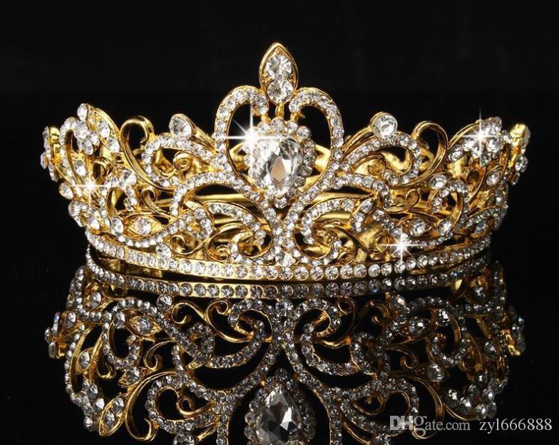 ornements de cheveux de mariée à la mode et élégant ornements de cheveux mariage coréenne accessoires robe de mariée de la couronne de diamant couronne ronde