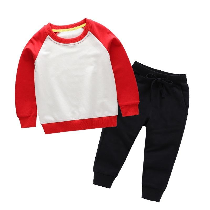 Nouveau Printemps Enfants Vêtements Ensemble Garçons De Couleur De Sucrerie Casual Sport T-shirt Pantalon 2 pcs infantile Outfit Enfants Vêtements Costume Survêtements T200414
