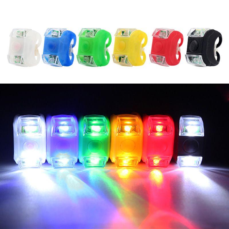 LED Bicycle Lights Safty Warning Flashlight Strobe Tail Rear Bulb Taillight Bike Front Handlebar Light