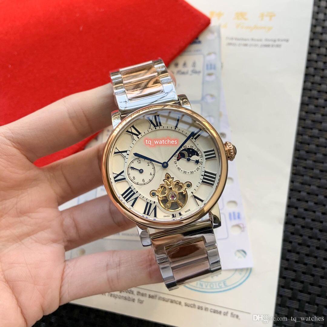 Престиж атмосферных бутик Мужские часы 316 Корпус из нержавеющей стали Часы из нержавеющей стали ремешок автоматические механические спортивные часы