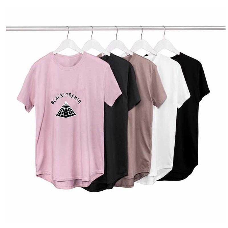BLACK PYRAMID 힙합 거리 남성 T 셔츠 패션 브랜드 의류 여름면 t 셔츠 남성 오버 사이즈 디자인 S-2XL를 확장