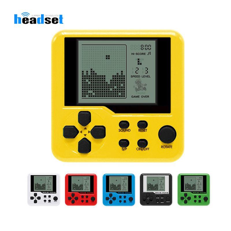 Ultra-kleine Mini Tetris Kinderhandspielkonsole beweglichen LCD-Spieler Kinderspielzeug Lern Elektronisches Spielzeug Klassiker