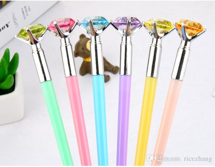 Mejor venta de plumas de gel al por mayor envío gratuito Chopstick Diamond Neutral Pen Aspecto de diamante de color Negro Pen 427