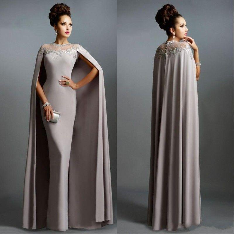 Barato Mãe de sereia longa dos vestidos da noiva com decote da ilusão do cabo que laço festa formal vestidos de noite do baile