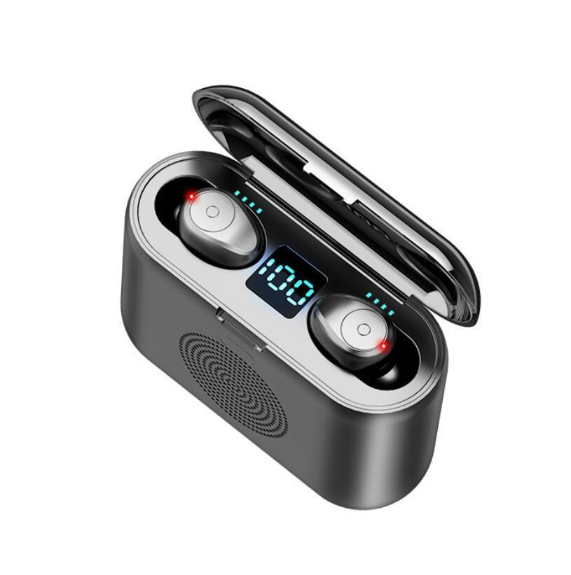 F9 G6 TWS 5.0 auricolari Bluetooth compresi altoparlante portatile stereo di HD senza fili delle cuffie, Noise Cancelling Gioco Sport Headset