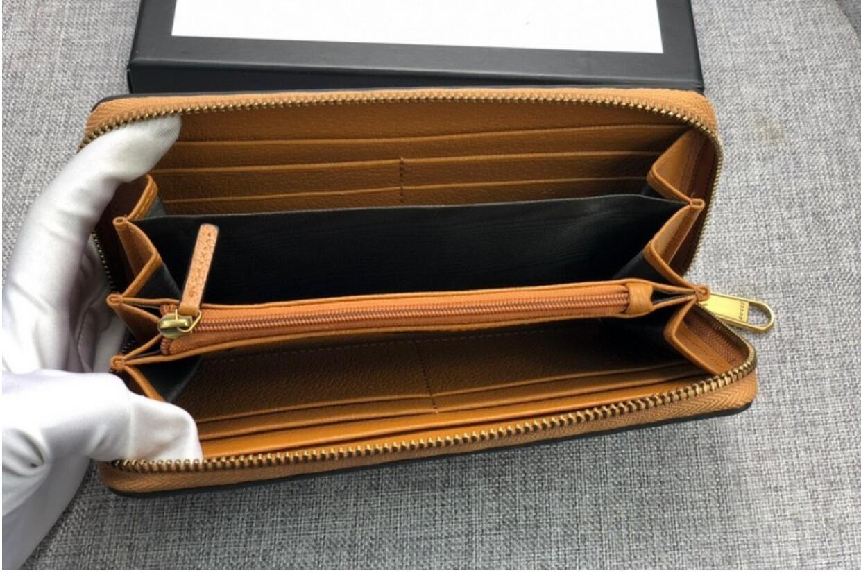 designer de homens de couro de luxo carteiras homens famosos carteiras portadores de Cartão de abelha longa bolsa preta abelha pequena bolsa de cartão de crédito de alta qualidade