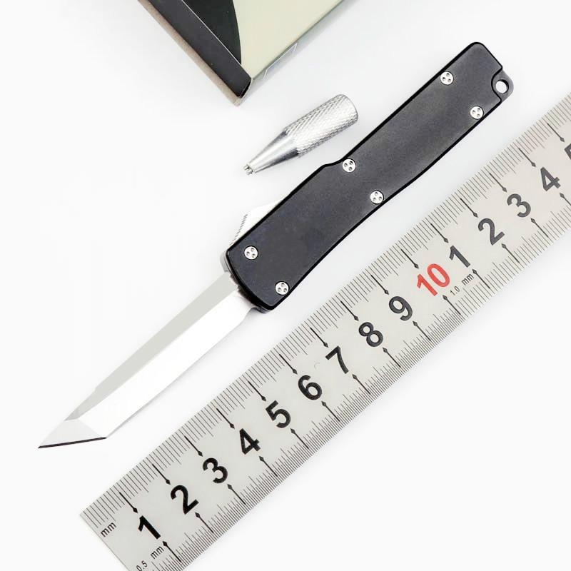 MICT mini-UT70 double tranchant bord tanto D2 lame double action de chasse Couteau de poche avec aut outil cadeau de Noël pour les hommes Adul