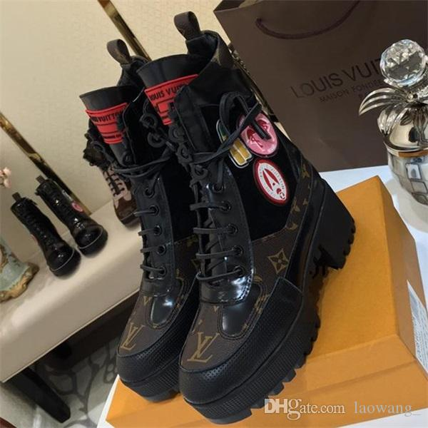 Lüks Bayan Ayakkabı ödüllü Platformu Boot Moda Kış Boots Bayanlar Yeni Sıcak Artı boyutu Bilek Boots Kadınlar için B55 Stil Gündelik