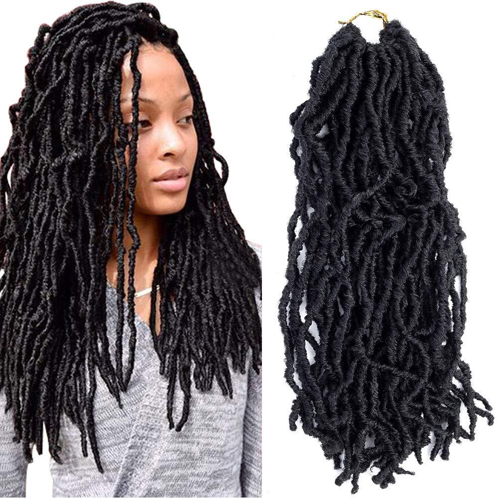 "Venda imperdível! 18"" Deusa Nu Locs Crochet Tranças 18inch 24roots 100% 3packs fibra Premium / Raízes Lot Goddess Faux Locs africanos extensão do cabelo"