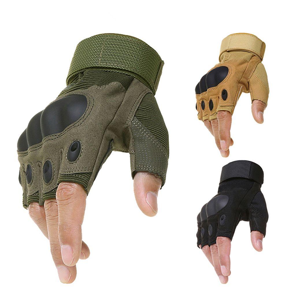 Открытый Тактические перчатки без пальцев Military Army Стрельба Туризм Охота Скалолазание Велоспорт Gym езда Airsoft Половина Finger перчатки