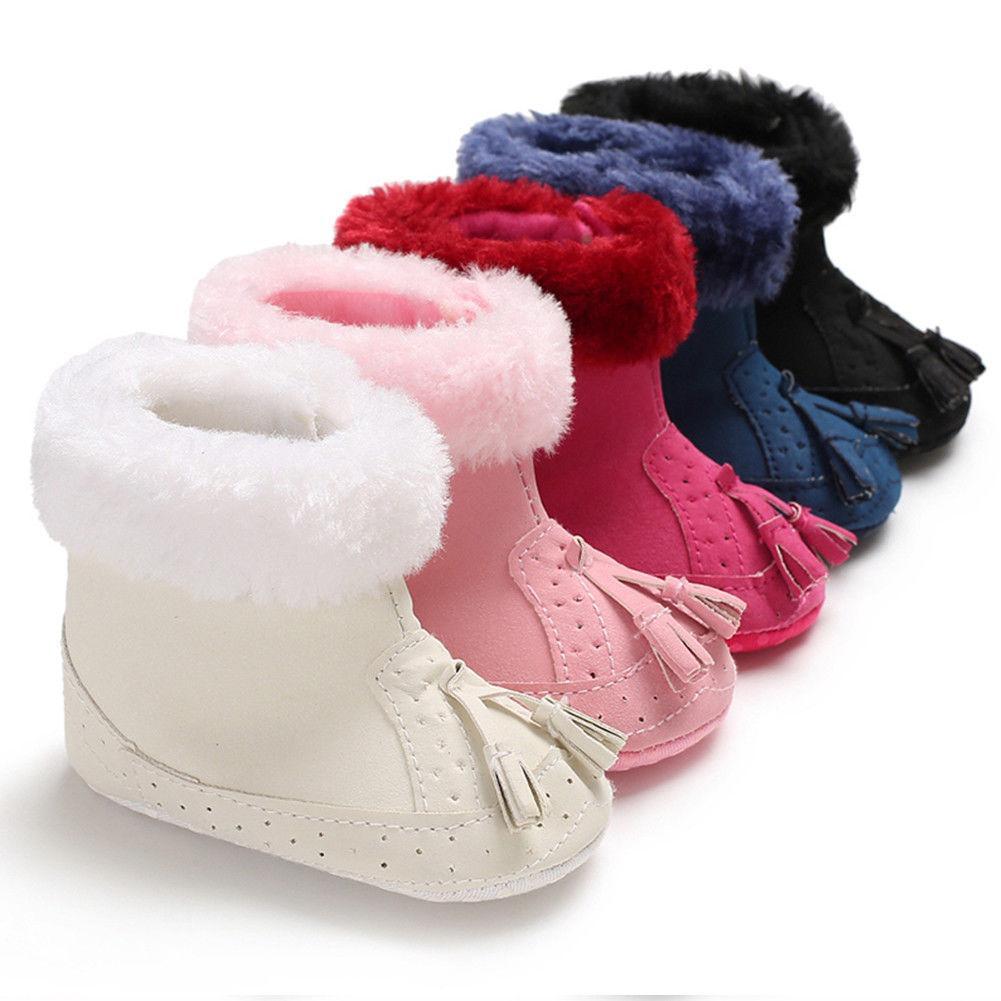 أحذية دافئ جميل الأطفال شرابات القطيفة أحذية الشتاء طفل طفل رضيع فتاة الثلج أحذية الرضع لينة النعال وحيد سرير 0-12 شهور