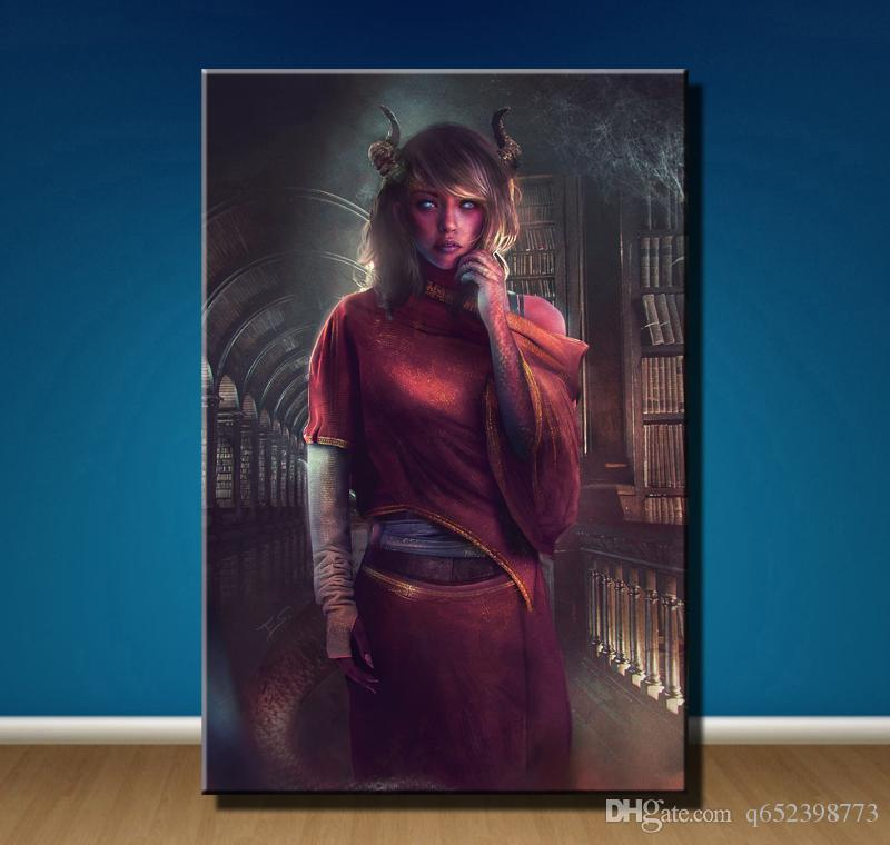 2020 Male Tiefling Art Hd Canvas Printing New Home Decoration Art Painting Unframed Framed From Q652398773 7 Dhgate Com
