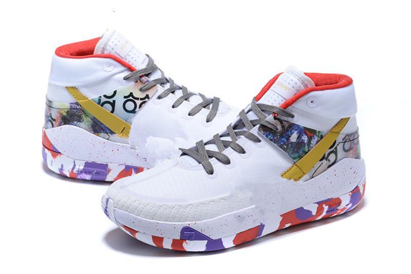 Erkekler KD13 beyaz Spor Spor ayakkabılar kutu Boyutu ABD 7-12 ile En İyi Kevin Durant XIII 13 Siyah Beyaz Basketbol Ayakkabıları