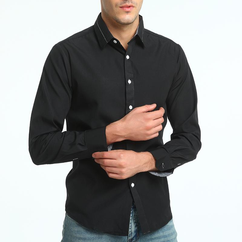 YYear Mens Long Sleeve Solid Regular Fit Button Down Casual Shirt