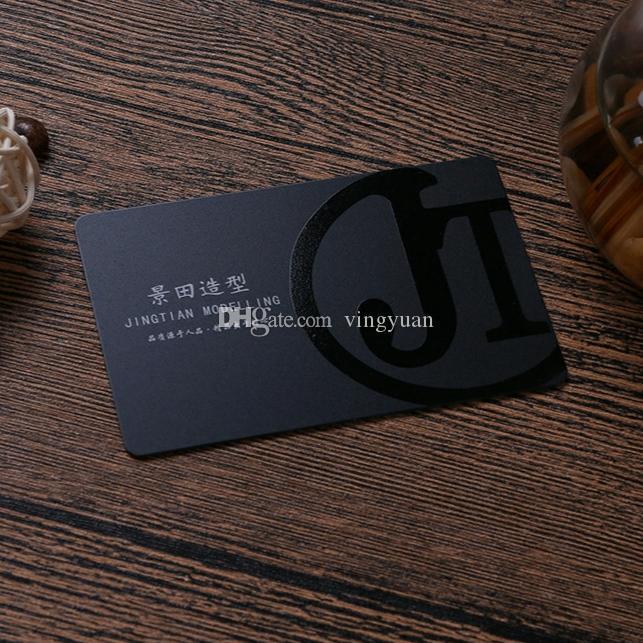 Saludo del nombre comercial Impreso a todo color Spot UV en relieve tarjetas de visita de plástico PVC