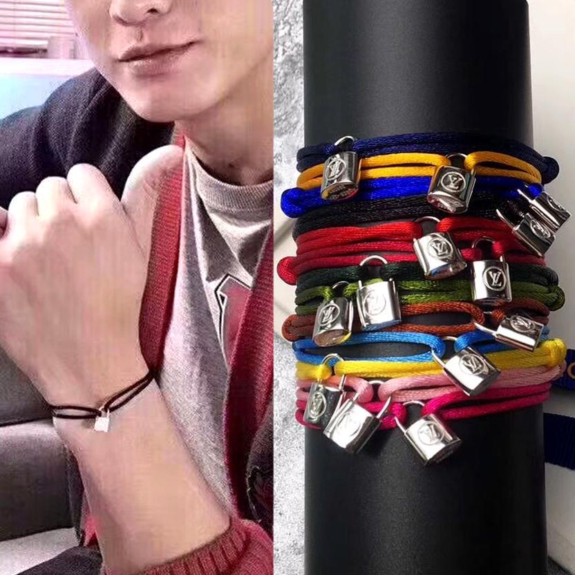 cordas de aço inox 316L BLOQUEIO pulseiras pulseira mão pulseira de bloqueio da cabeça de casal para homens e mulheres moda jewwelry marca famosa