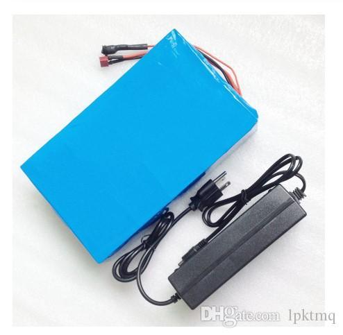 Ücretsiz gümrük şarj edilebilir lityum pil 48V 12AH lityum iyon pil 48V 12AH li-ion pil paketi BMS 2A şarj cihazı ile vergileri