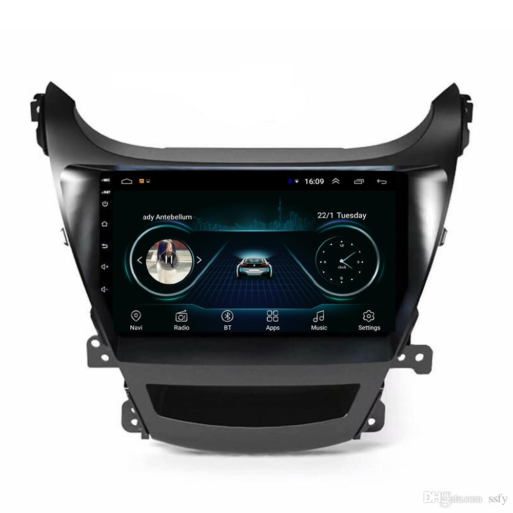 Android car system language mutil-touch screen good bluetooth HD1080 display Resolution 1024 * 600 USB for Hyundai elantra 2014 9inch