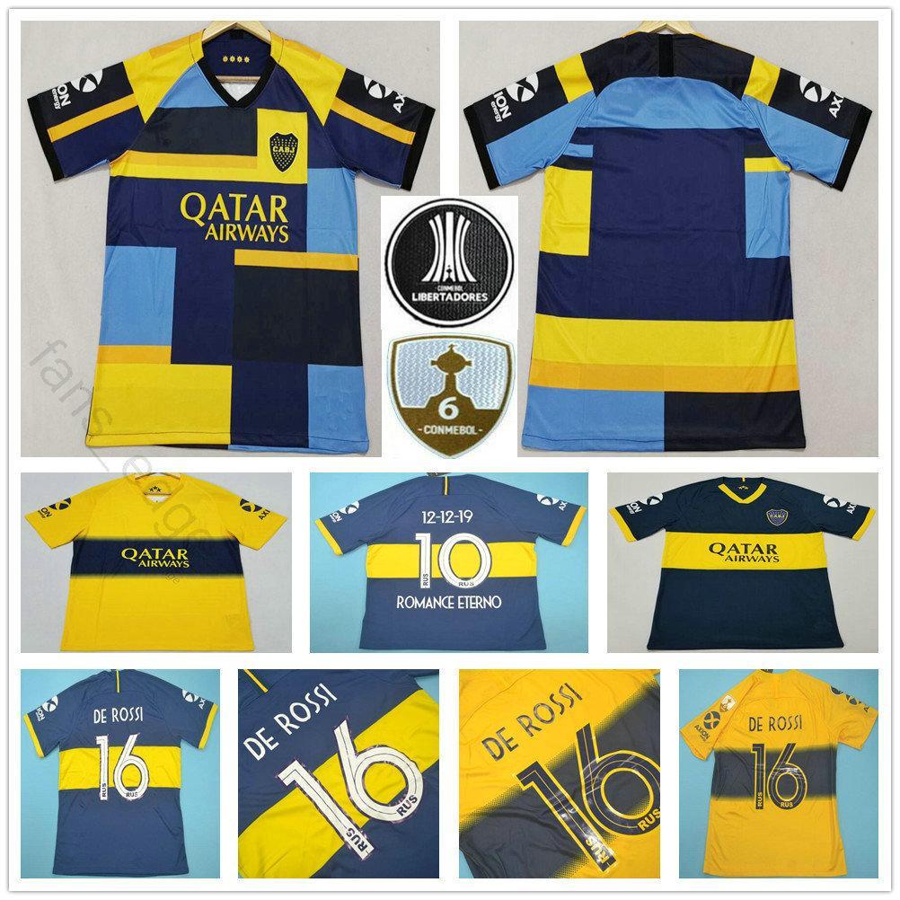 19 20 Camiseta Boca Juniors Soccer Jersey De Rossi Tevez Pavon Benedetto Mauro Gago Perez 2019 2020