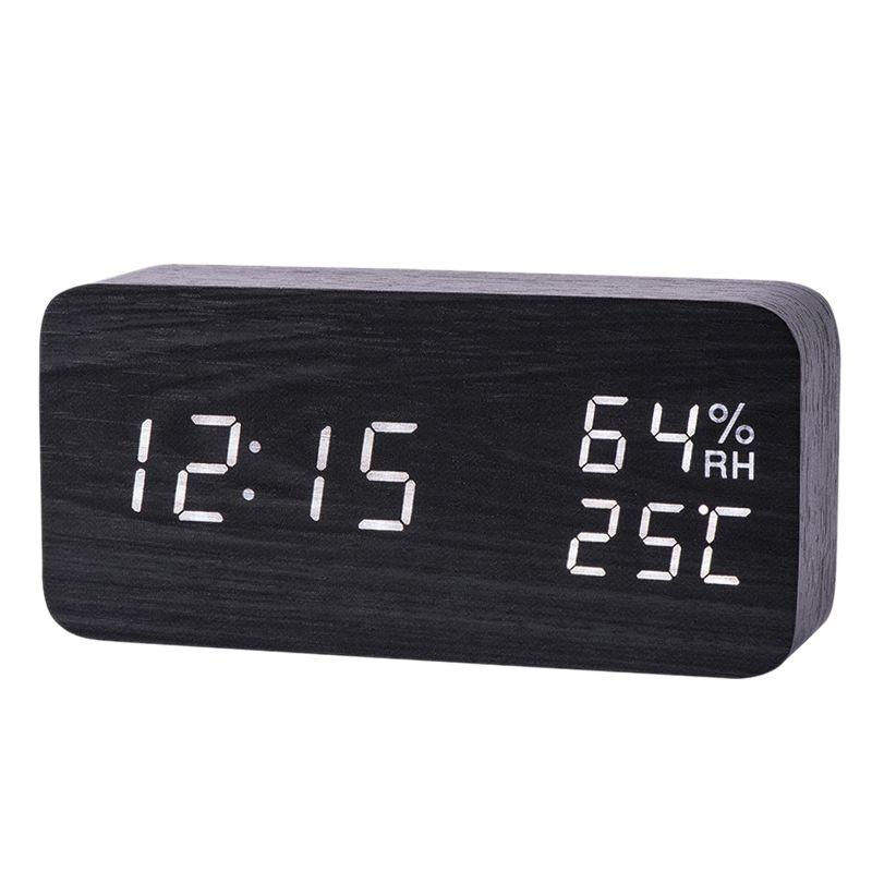 Moderno Led Alarm Clock Temperatura Umidità elettronica desktop a risparmio energetico digitale orologi da tavolo