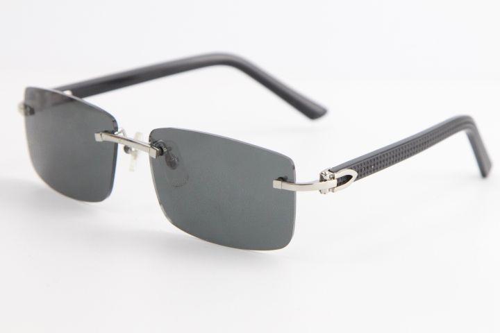 림없는 검은 색 격자 무늬 판자 선글라스 8200757 패션 고품질 브랜드 태양 안경 투명한 큰 사각형 안경 투명 프레임