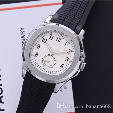 En tasarımcı İzle Erkekler Otomatik Lüks Saatler Gümüş Kayış Mavi Paslanmaz Erkek kuvars Orologio di Lusso Kol tarihi Chrono Stopwatches