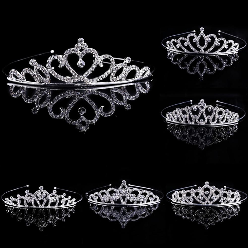 Nuevo 1 unid chica nupcial princesa boda accesorios para el cabello de cristal rhinestone corona diadema impresionante cristal tiara boda corona gai c19022201