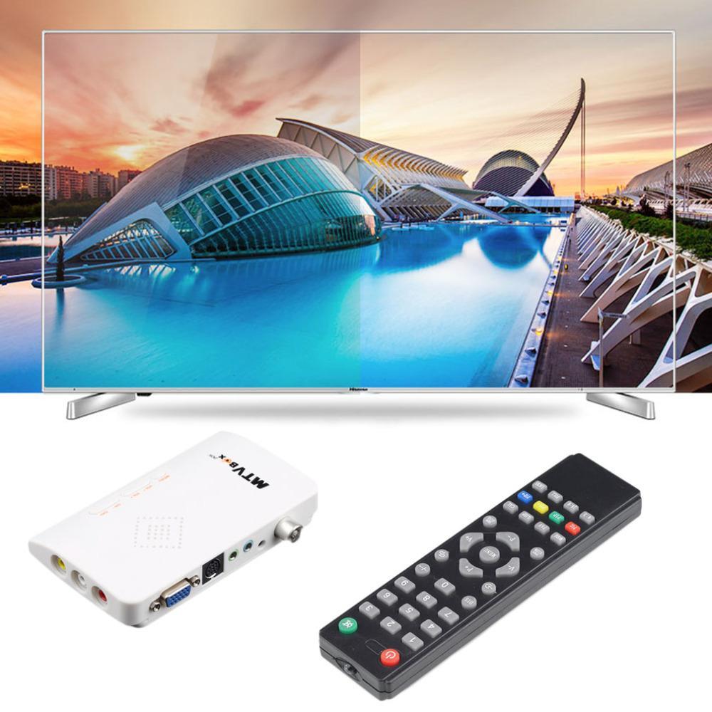 Freeshipping 1 Set Comodo cavo analogico digitale video LCD / CRT VGA / AV Cavo sintonizzatore ottico Visualizza convertitore ricevitore con telecomando