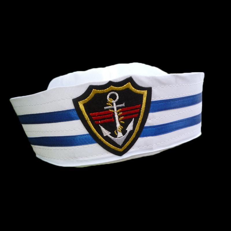 القبعات قبعات القبعات العسكرية مضحك الكبار الطفل الأبيض الكابتن البحارة قارب القبعة الزرقاء العسكرية البحرية البحرية كاب مع حزب مرساة تأثيري