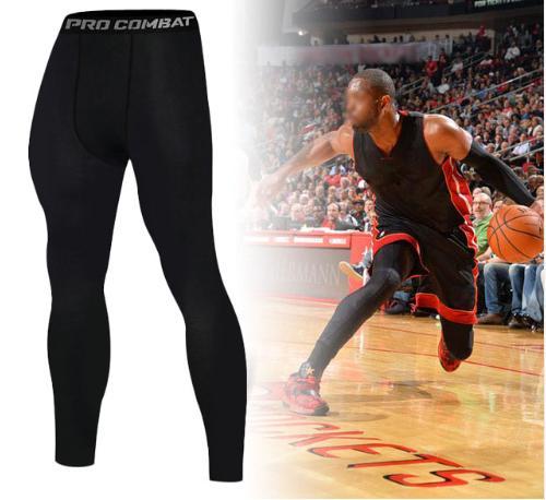 Pantalones ajustados de baloncesto Nuevo 2019 Pantalones deportivos de verano Pantalones elásticos de secado rápido Fitness para hombres Leggings para correr