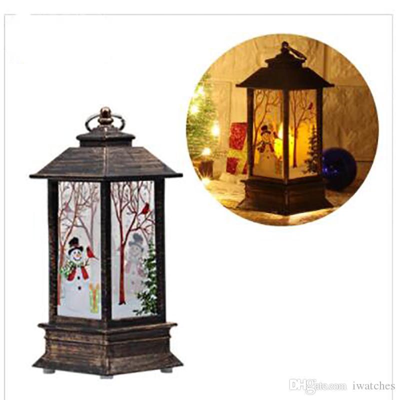 Lumières LED Décoration de Noël Lumières Bougeoir Flamme vent Lumières Père Noël Décoration Personnalité créative Holiday Decorations Livraison gratuite